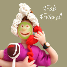 Fab Friend Happy Birthday Card One Lump or Two Holy Mackerel Greeting Cards