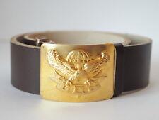 Original Russian Soldier Leather Brown Belt Soldier w/ Badge Airborne №1 (eagle)