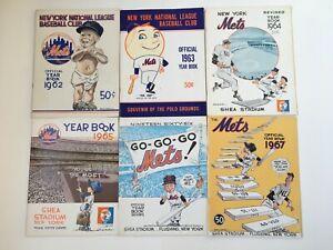 New York Mets Yearbooks Inaugural season+ 1962-2020 59 Issues VG + Complete Set