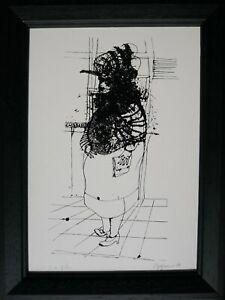 RENZO VESPIGNANI serigrafia la Signora 1980  21x14 firmata numerata 119/150