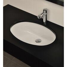 Lavandino Lavabo Sottopiano Bagno Design Oval 105 in ceramica bianco