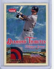 2005 Fleer Tradition Diamond Tributes CHIPPER JONES Jersey Patch Relic Braves