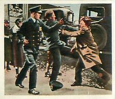 N°171 Agitation en Amérique Unrest in America Police/Germany 1931 IMAGE CARD 30s