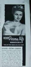 1944  Hickory Women'sPERMA-LIFT Brassiere Bra  Ad