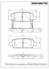 Rear Ceramic Brake Pads CD905 Dash 4 Brake