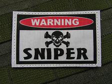"Snake Patch  "" WARNING - SNIPER ""  - pour tireur d'élite Airsoft bille 6 mm"