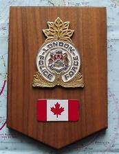More details for obsolete canadian canada london police force  oak crest plaque shield.