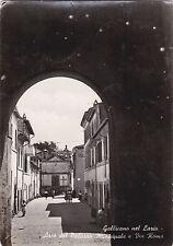 * GALLICANO NEL LAZIO - Arco del Palazzo Municipale e Via Roma
