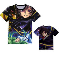 Anime Code Geass Lelouch Unisex T-shirt Short Sleeve Casual Tee Cosplay#RF-N129