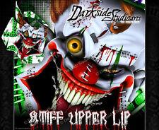 "SKI-DOO 2008-2012 XP REV SUMMIT ""STIFF UPPER LIP"" SIDE PANEL WRAP GREEN & WHITE"