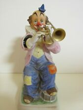 Melody In Motion Porcelain Clown Trombone Player 'Happy Days Are Here Again'