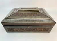 RARE Antique Huntley & Palmers Biscuit Tin Sandalwood Casket c.1924 in 2 Museums
