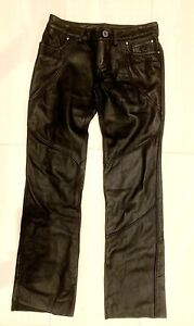 Harley Davidson Black Leather Riding Pant-Woman's-10-NWT-SEXY-Jean Style-REDUCED