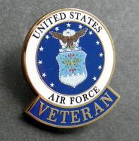 US AIR FORCE VETERAN USAF VET LAPEL PIN BADGE 1 INCH