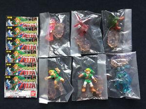 Bandai 1999 The Legend of Zelda Ocarina Of Time Set 6 Mini Gashapon Figure Japan
