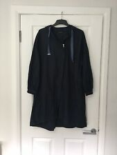 Zara Lightweight Parka Jacket Navy Blue Size XS