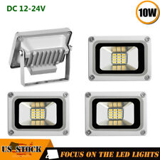 4x10W Floodlight 12V Outdoor LED Spotlight Landscape Garden Yard Lamp Cool White