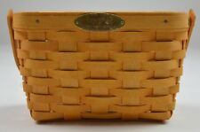 Longaberger 2000 Dresden Basket Combo With Protecter & Metal Plate Home Decor