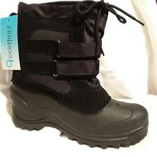 cold front Boy's snow pac winter boot size 6.color black