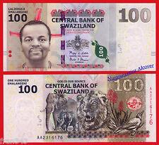 SWAZILAND 100 Emalangeni 2010 Pick 39  SC / UNC