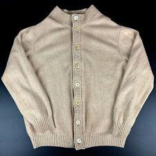 Bullock Jones Mens XL Button Front Tan Wool Cashmere Suede Cardigan Sweater