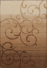 """2x8 Milliken Whispering Wind Umber Casual Scrolls Area Rug - Approx 2'1""""x7'8"""""""