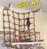 Bird Parrot Cockatiel Climbing Rope Net Jungle Ladder Swing Play Toys Supply