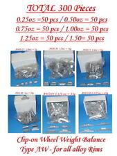 4SET of 300 PCS CLIP-ON WHEEL WEIGHT BALANCE P& AW 0.25 0.50 0.75 1.0 1.25 1.50z