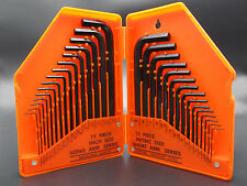 Allen Wrench Hex Key Set 30PC SAE METRIC Long Short Arm with Case Tool Kit