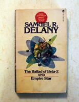 Book: The Ballad of Beta-2 / Empire Star: Samuel Delany: 1st Ace Double PB 1965