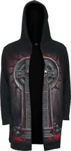 SPIRAL DIRECT BLEEDING SOULS Occult Hooded Cardigan/Biker/Skull/Tribal/Hood