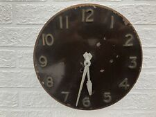 More details for rare art deco gents open faced electric wall clock in need of restoration.