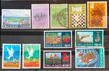 Iceland Year Set 1972 Complete - All Issues - Used VF/XF
