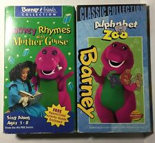 Barney Rhymes with Mother Goose & Alphabet Zoo Vintage VHS (2) Vintage