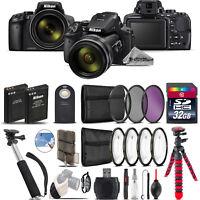 Nikon COOLPIX P900 Digital Camera + Spider Tripod + Monopad + EXT BAT - 32GB Kit