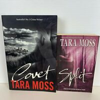 2 Lot Tara Moss Paperback Books - Split & Covet
