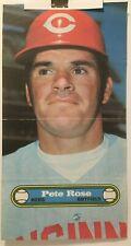 "1972 TOPPS   BASEBALL POSTER  #11    PETE ROSE    Cincinnati Reds    10"" X 18"""