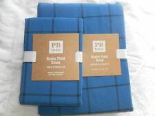 New Pottery Barn Pb Teen Boxter Plaid Duvet Cover Sz Full Queen And 2 Standard