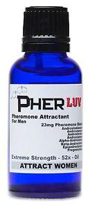 PherLuv SEX PHEROMONE Cologne OIL for MEN *ATTRACT WOMEN!  52X ANDROSTENONE +