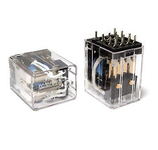 2x Fujitsu FRL-264 Relais, D012/04CS-01, 12V Spule, 4x UM / 4 PDT je 3A, NOS