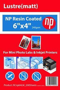 4x6 Matt Premium 200 Sheets Photo Paper 240gsm