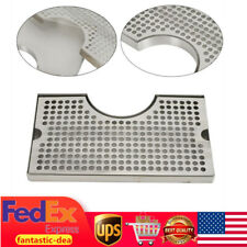Beer Kegerator Draft Tower Tap Drip Tray Stainless Steel Surface Mount 12x7x34