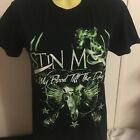 Justin Moore Black Small Tshirt Red neck Country Hunting Music Green Writing