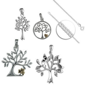 925 Sterling Silver Tree of Life Pendant Necklace Gift Idea NEW Design