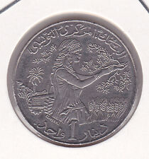 1 Dinar Tunesien 1997 1418 Wappen Tunisia prima Erhaltung