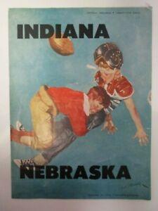 1956 Nebraska Cornhuskers vs Indiana Hoosiers Football Program