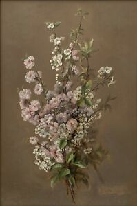 """Original Watercolour Still Life Painting """"Almond Blossoms"""" By S Keck"""