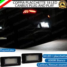 COPPIA PLACCHETTE 18 LED LUCI TARGA AUDI A1 GBA PER VERSIONI CON LED DI SERIE