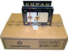 Copag Case 12 Double Decks of Cards - 1546 Black & Gold Bridge - Regular Index