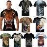 3D Print T-Shirt Lion Tiger Cat Animals Casual Cool Summer Short Sleeves Top Tee
